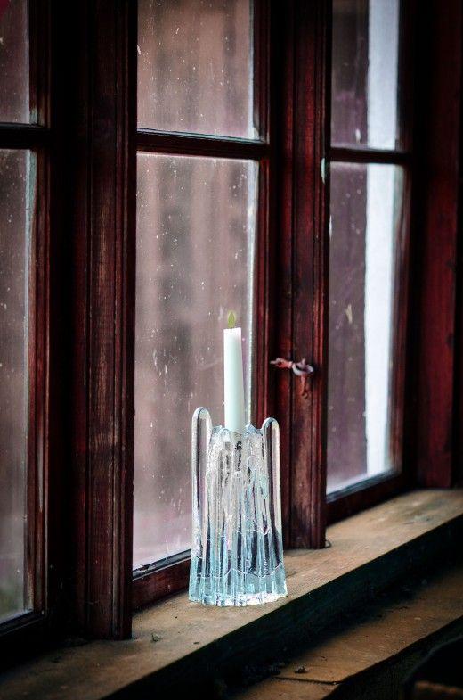 ljusstake, glas, retro, loppisfynd, Loppistan kosta