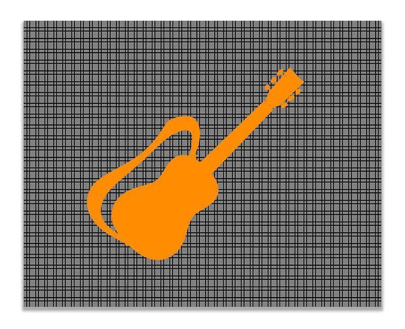 Guitar with Strap Children's Print Wall Art