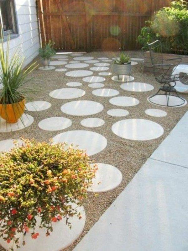 Gartengestaltung Mit Kies Und Steinen 25 Gartenideen Fur Sie Hinterhof Garten Gartengestaltung Garten Ideen