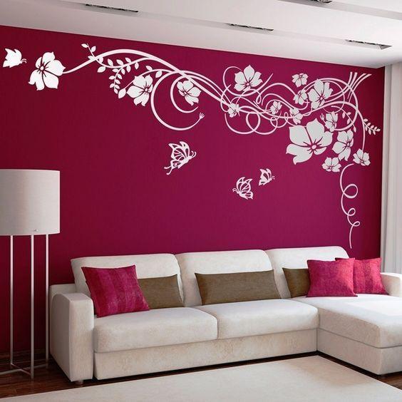 Walls Murs Decoration Gypsum Decoration Interior Exterior Flooring Ceiling Wall Amenagement Renova Room Paint Designs Living Room Paint Wall Design