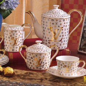 European Style High-grade Dinnerware Bone China Ceramic Tableware Full Sets LV 58 Pcs Fashion & European Style High-grade Dinnerware Bone China Ceramic Tableware ...
