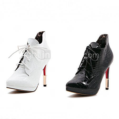 Shoes For Women Stiletto Heel Bootie Pointed Toe Closed Toe Boots Casual Black White