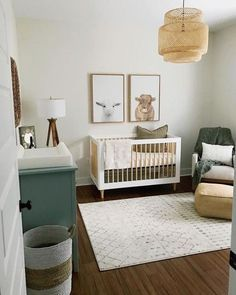 Bamboo Rattan Light pendant for Baby boy nursery decor idea.