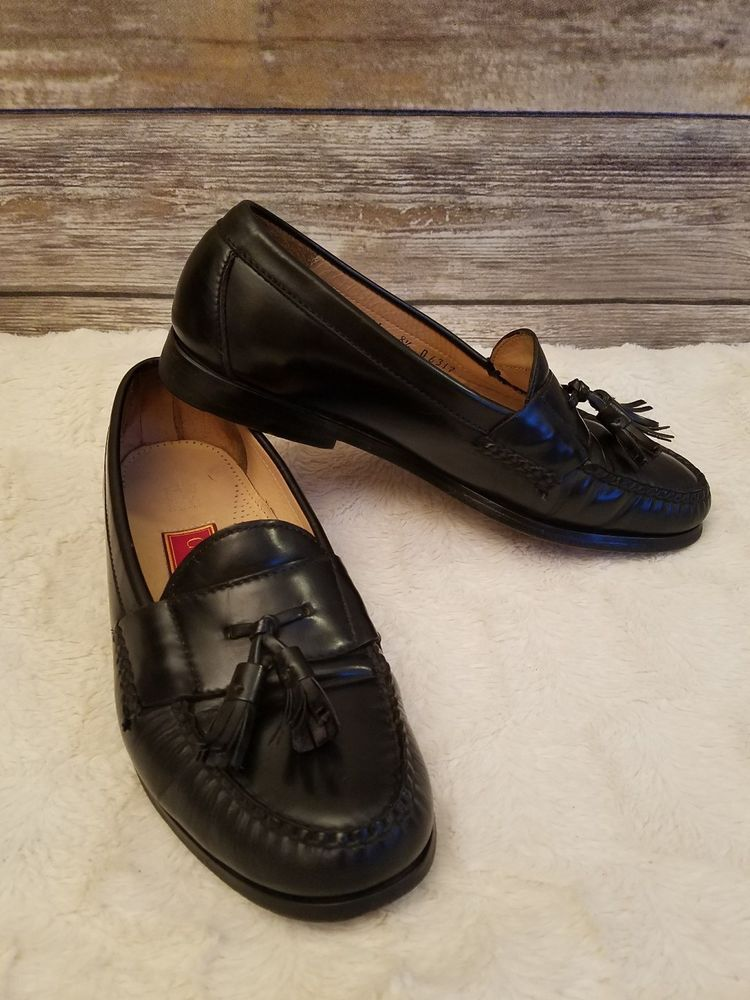e30c826b4ab8cd Cole Haan City 3506 Black Penny Loafers Tassels Mens Leather Shoes