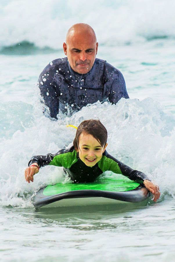 All this like a game, Kids gets the opportunity to learn about the surfing experience in Fuerteventura, beach safety, ocean awareness and surfing techniques with qualified instructors, for his safety that why the Lessons held in small groups for maximum safety. Surfing takes place in the white foams at shallow water soft beach-break kind of …