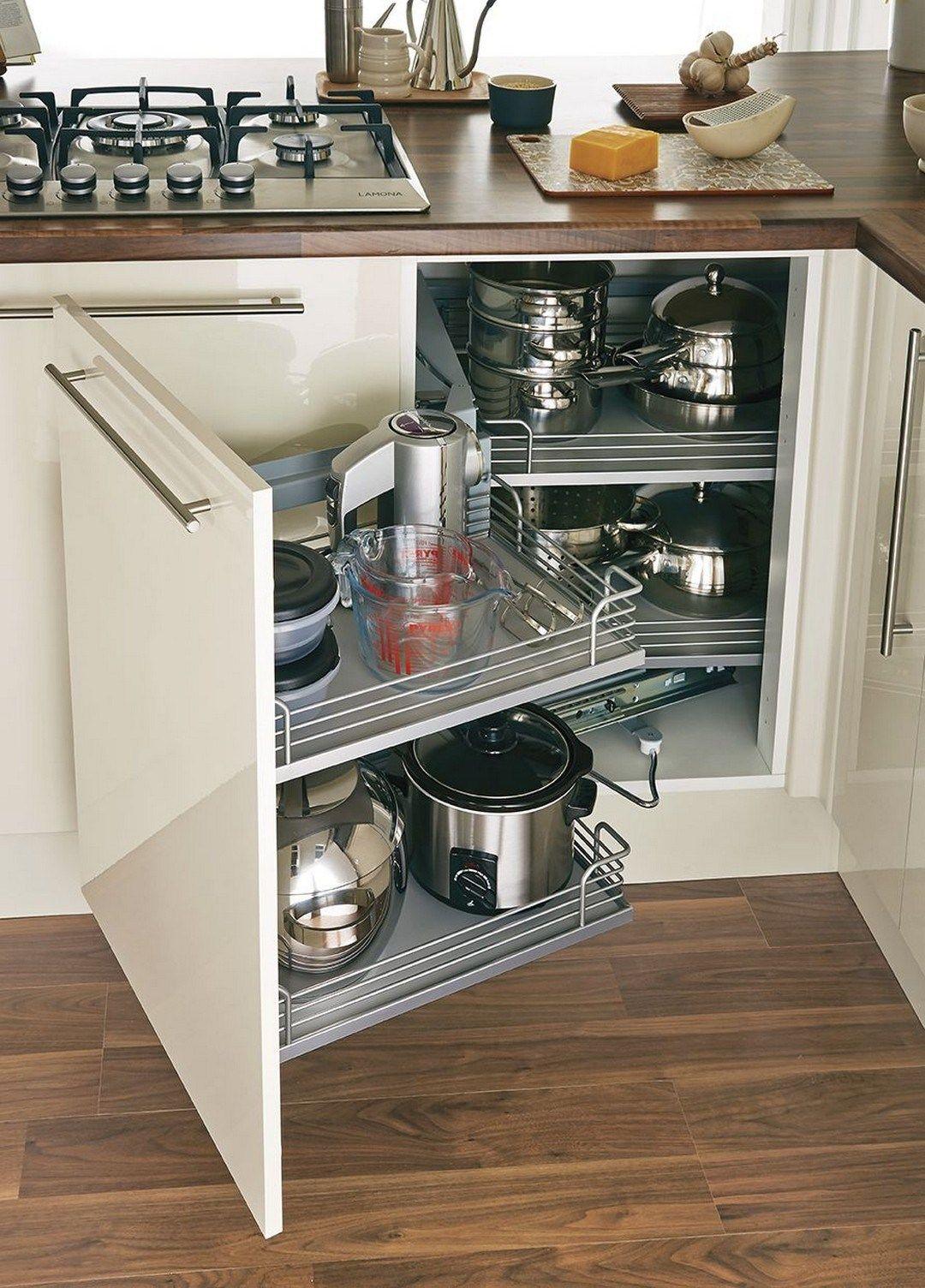 45 Gorgeous Corner Cabinet Storage Ideas For Your Kitchen ...