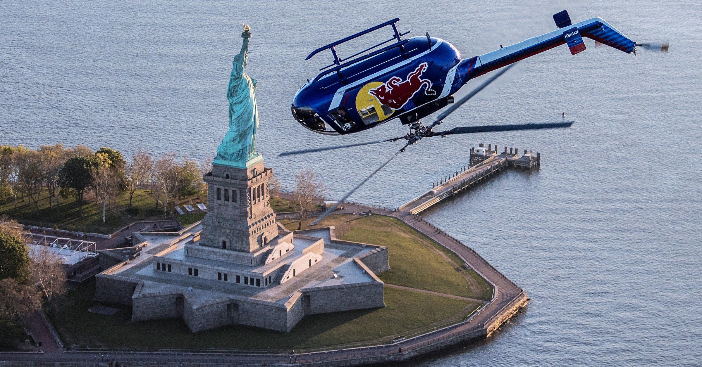 How Red Bull's Aerobatic Helicopter Flies Wild Stunts Over
