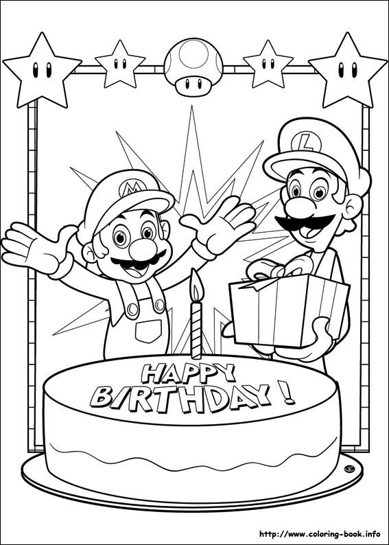 Super Mario Bros. coloring picture | festa mario bros | Pinterest | Kind
