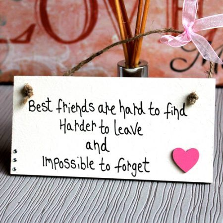Friendship Plaques And Signs Gift Best Friends Are Hard To Find