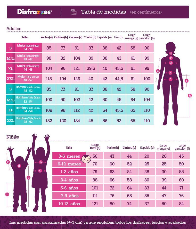 0623ba16c Resultado de imagen para tabla de medidas de niños de 6 a 12 años ...