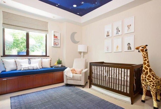Babyzimmer In Dunkelblau Und Beige Gestalten   Moderne Idee