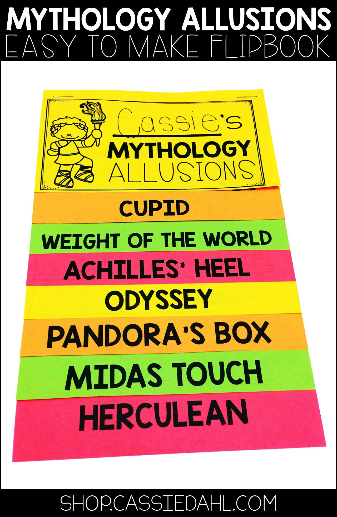 Mythology Allusions Flipbook Pinterest Flip Books Student