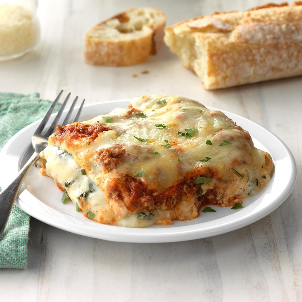 Ground Beef Spinach Alfredo Lasagna Recipe In 2020 Ground Beef And Spinach Alfredo Lasagna Recipes