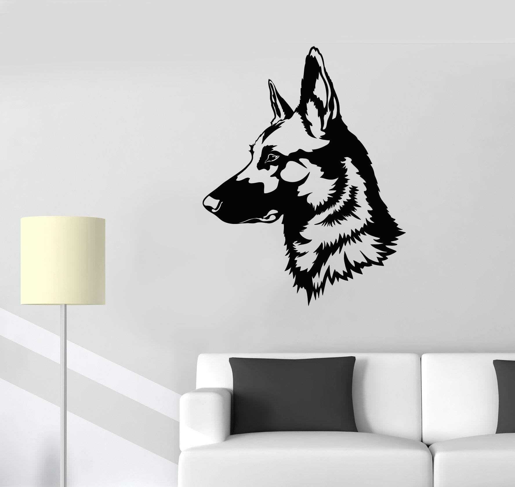 Vinyl Wall Decal German Shepherd Dog Pet House Animal Stickers 2449ig Vinyl Wall Decals Animal Stickers Vinyl Wall [ 1681 x 1776 Pixel ]