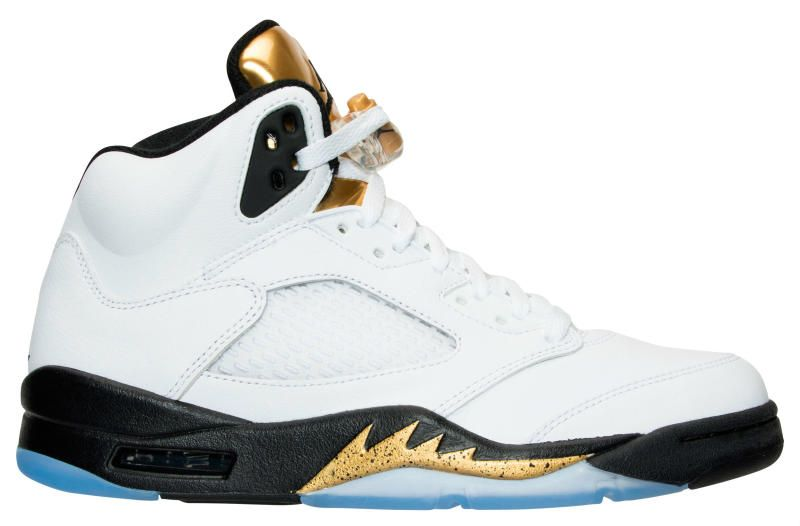 86123788d709 Air Jordan 5 Gold Coin Olympic Release Date 136027-133 (2)