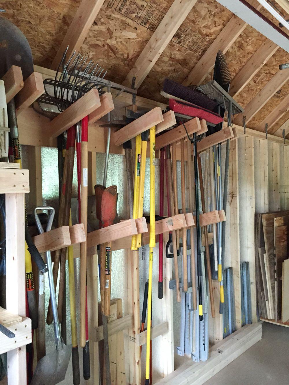 Carpenter tools storage shed organization diy storage