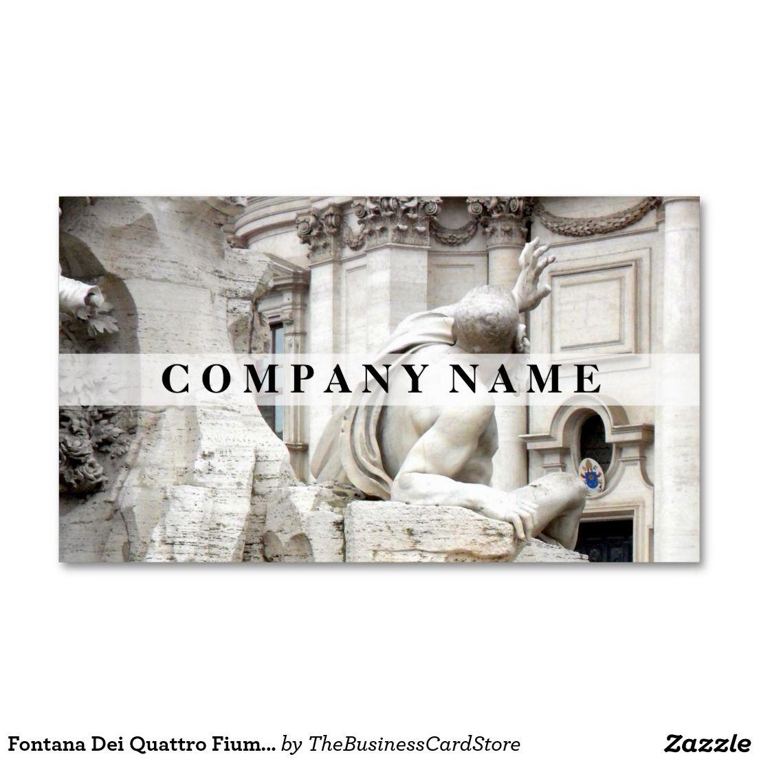 Fontana dei quattro fiumi fountain roma italy business card fontana dei quattro fiumi fountain roma italy business card reheart Images