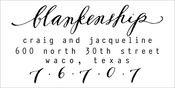 Image of Soirée Stamp   Type with Zip Code