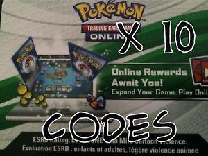 10x Pokemon Ancient Origins Code Cards for Pokemon TCG Online Booster Packs