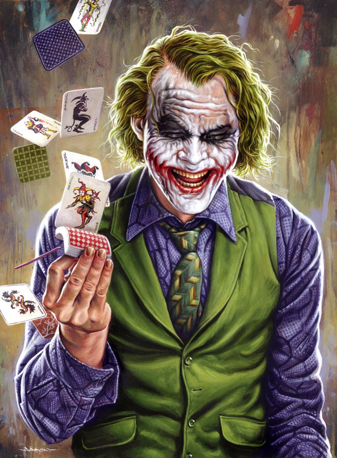 Heath Ledger The Joker Maquillaje De Joker Joker Gran