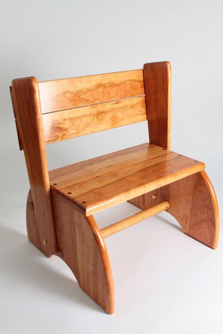 Good Child Chair Step Stool Of Cherry