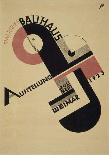 Poster for Bauhaus Exhibition in Weimar (1923) Not mid
