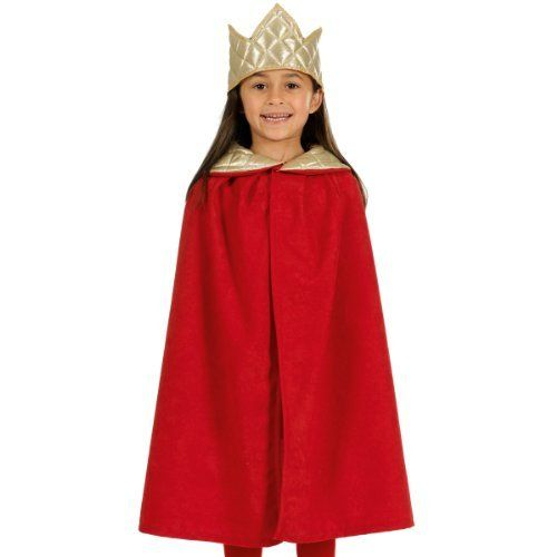 Child Purple King Robe /& Crown Queen Costume Royal Cape Boy/'s Girls Wiseman Fur