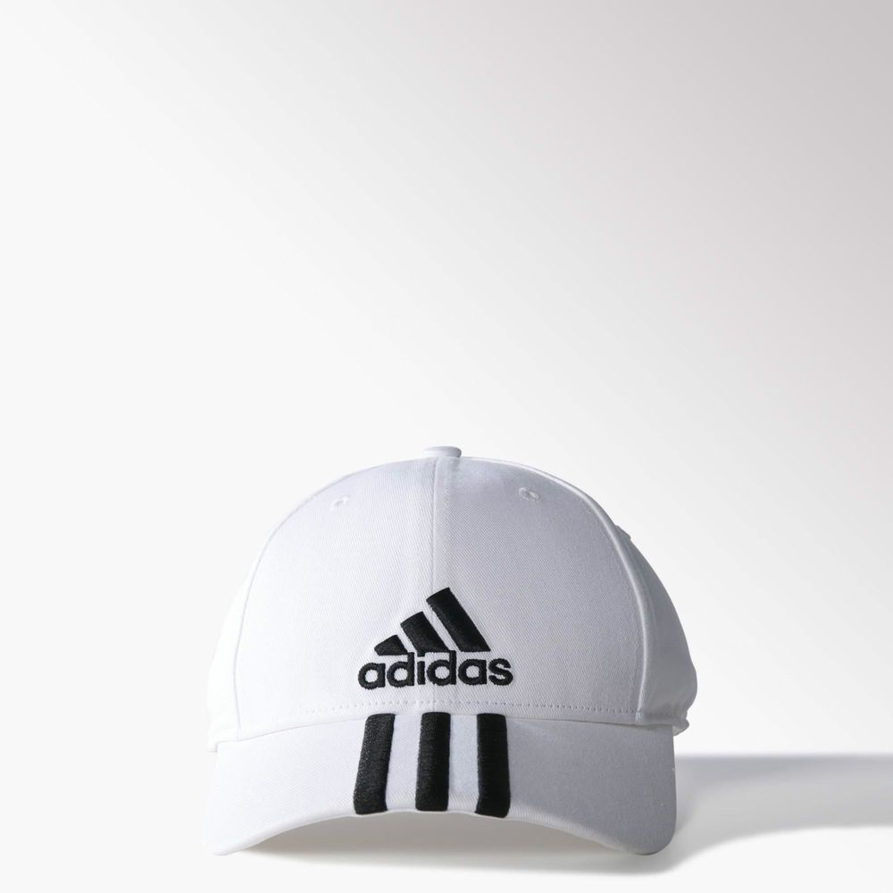 New  Adidas Originals White Classic Performance 3-Stripes Baseball Cap -  hat  adidas  BaseballCap dd25a14f9ab8