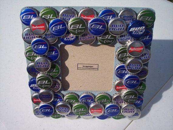 Modern Beer Cap Picture Frame Festooning - Picture Frame Design ...