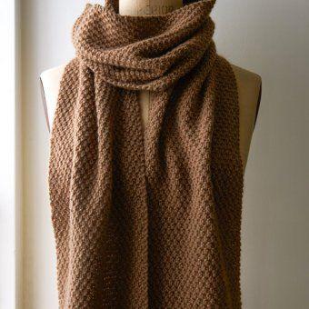 Tricoter Une écharpe Au Point De Blé Echarpe Tricot