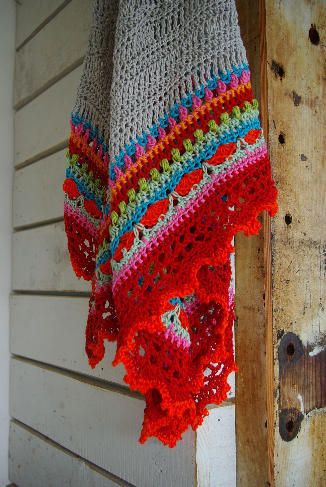 Sunday Shawl pattern by Alia Bland | Tücher, kostenlose Muster und ...