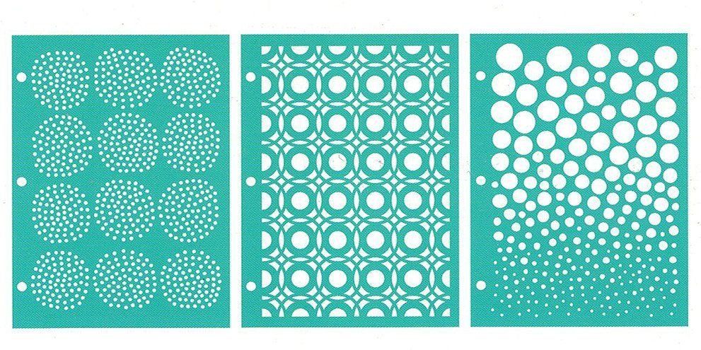 One Size Multi-Colored for Creating Patterned Backgrounds and Artwork for Craft Projects for The Love of Layers Carabelle Studio Art Template Stencil