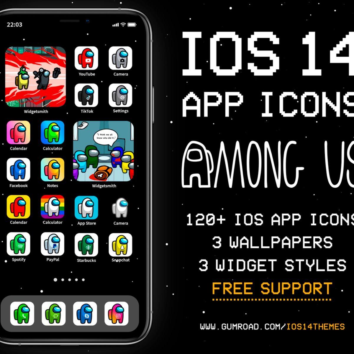 Among Us Ios 14 App Icons Ios14 Among Us Aesthetic Home Screen Iphone Icons Among Us Iphone Theme App Icon Themes App Iphone Icon