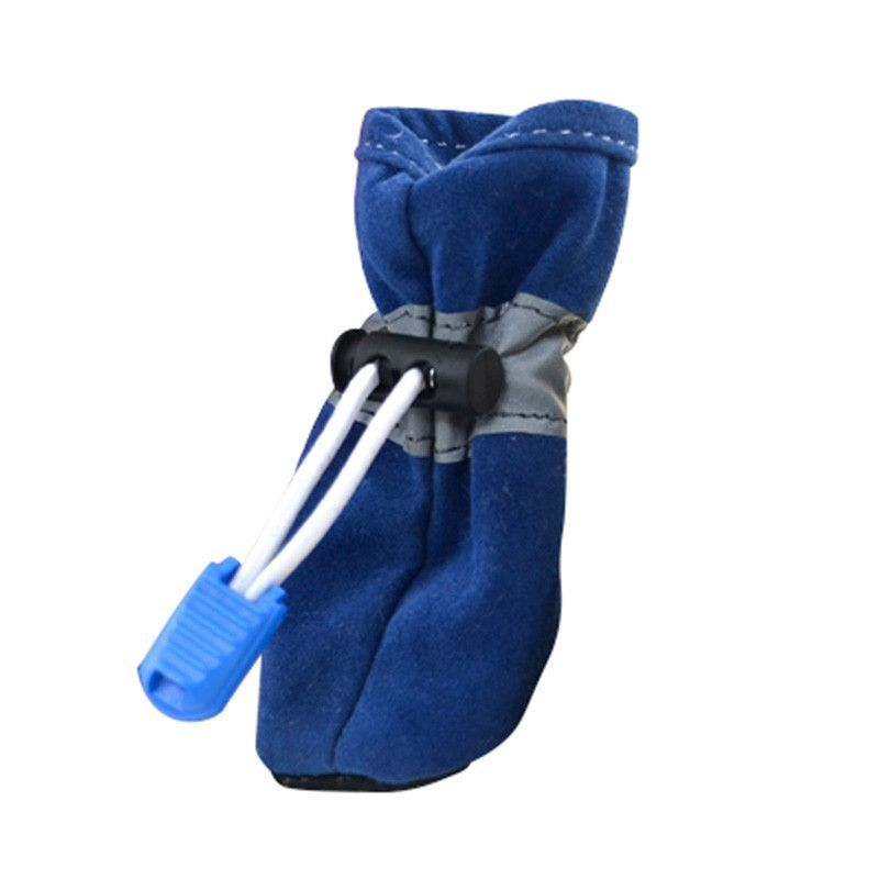 Winter Warm Pet Dog Puppy Anti-slip Shoes Suede Cat Booties Sneakers 7 Size