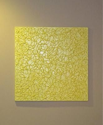 DIY Tutorial: Home / DIY Simple Textured Wall Art with String ...