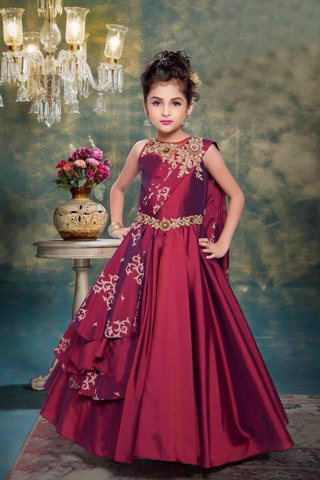 Birthday Dress Girls Special Dress For Gift Partywear Fancy Indian ...