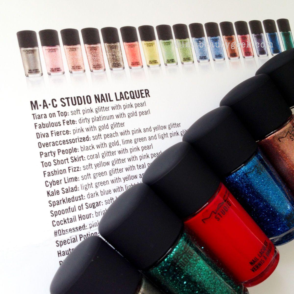 MAC STUDIO NAIL 2015: SWATCHES | Mac nail polish, Mac nails and Nail ...