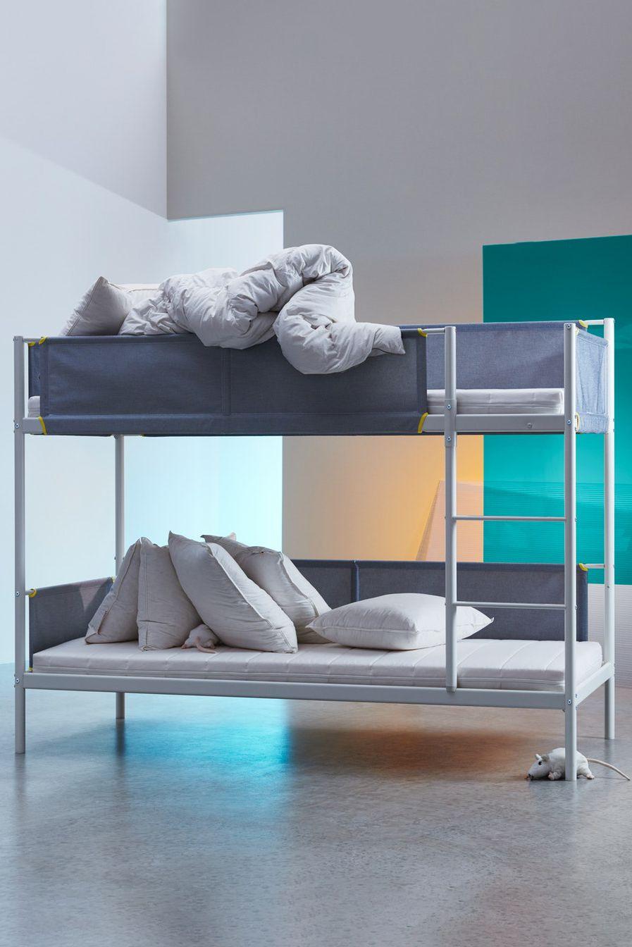 Vitval Etagenbettgestell Weiss Hellgrau Ikea Deutschland Zimmer Ideen Schlafzimmer Bett Ikea