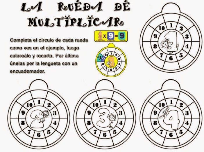 Las Tablas de Multiplicar  Cuaderno de Ejercicios  Planeaciones