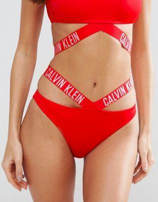 Calvin Klein Logo Strap Bikini Bottom  cea97bca92e