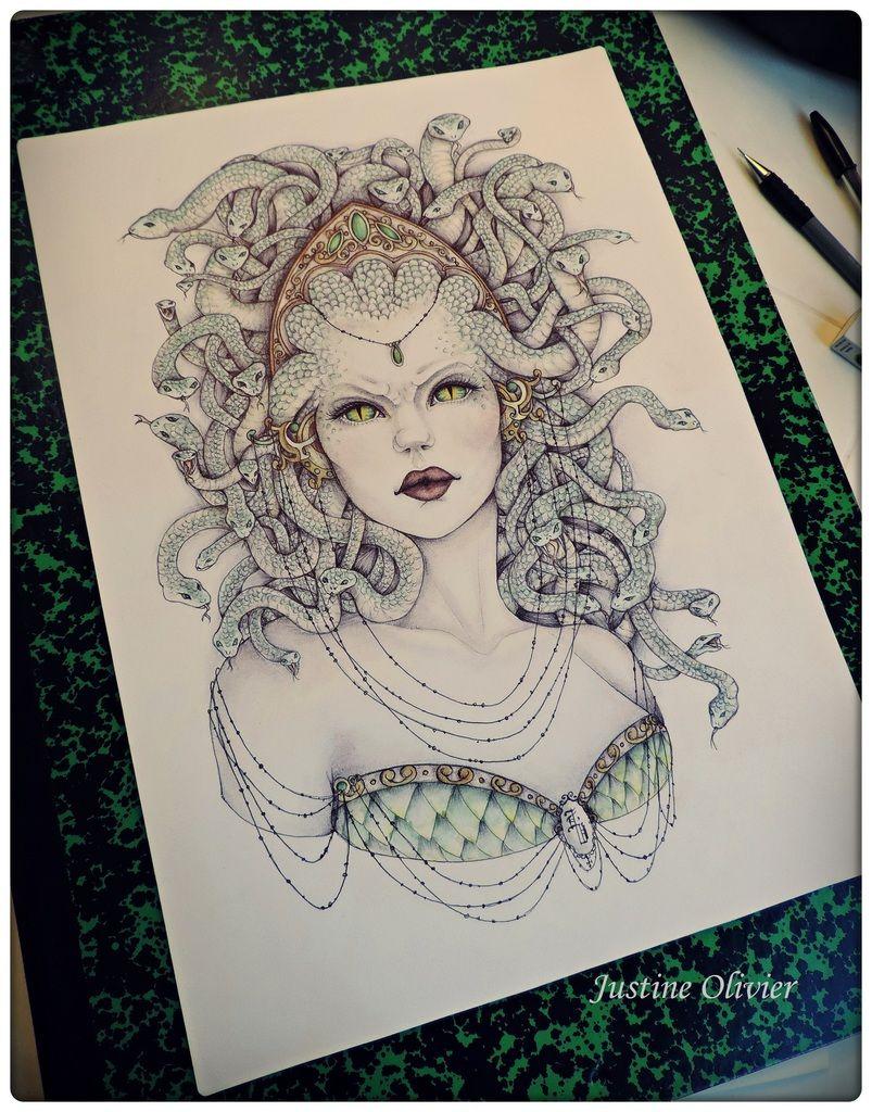 Dames De Legende Dessin Personage Pinterest Gorgone