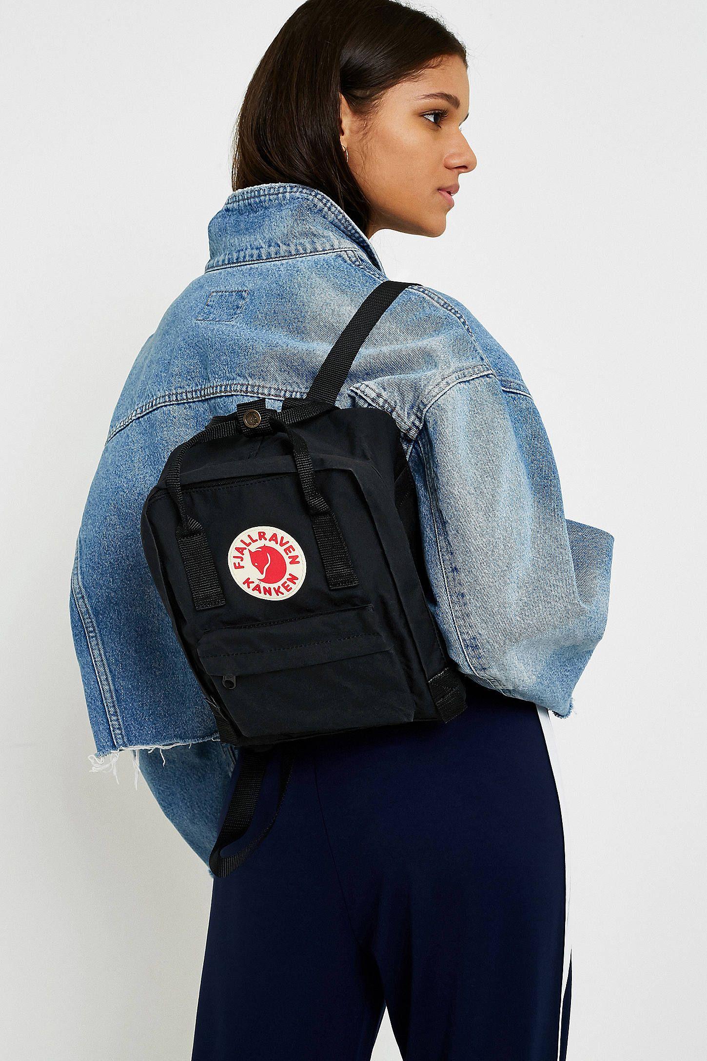 dd2f76c96186d Fjallraven Kanken Black Mini Backpack in 2019