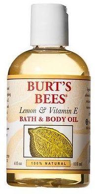 Burt's Bees Lemon and Vitamin E Body and Bath Oil - 4 oz