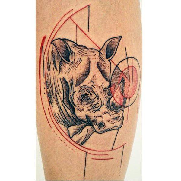 90 rhino tattoo designs for men cool rhinoceros ink ideas rhino rh pinterest com rhino beetle tattoo meaning rhino tattoo designs