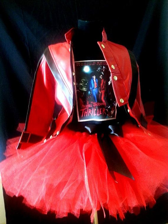 4e3f5490fb2b Michael Jackson Thriller Inspired Tutu set w  by MariahsCloset ...