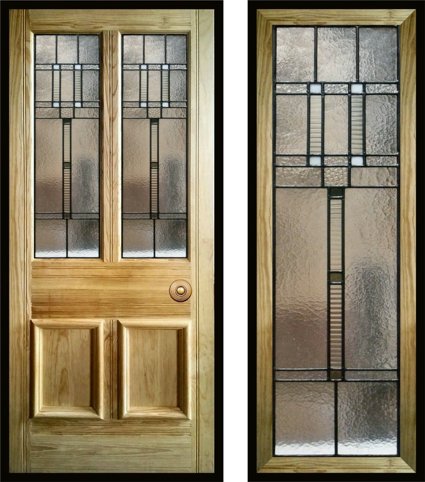 Modern Contemporary Stained Glass Door Panels Handmade To Order Ebay Stained Glass Door Glass Door Stained Glass