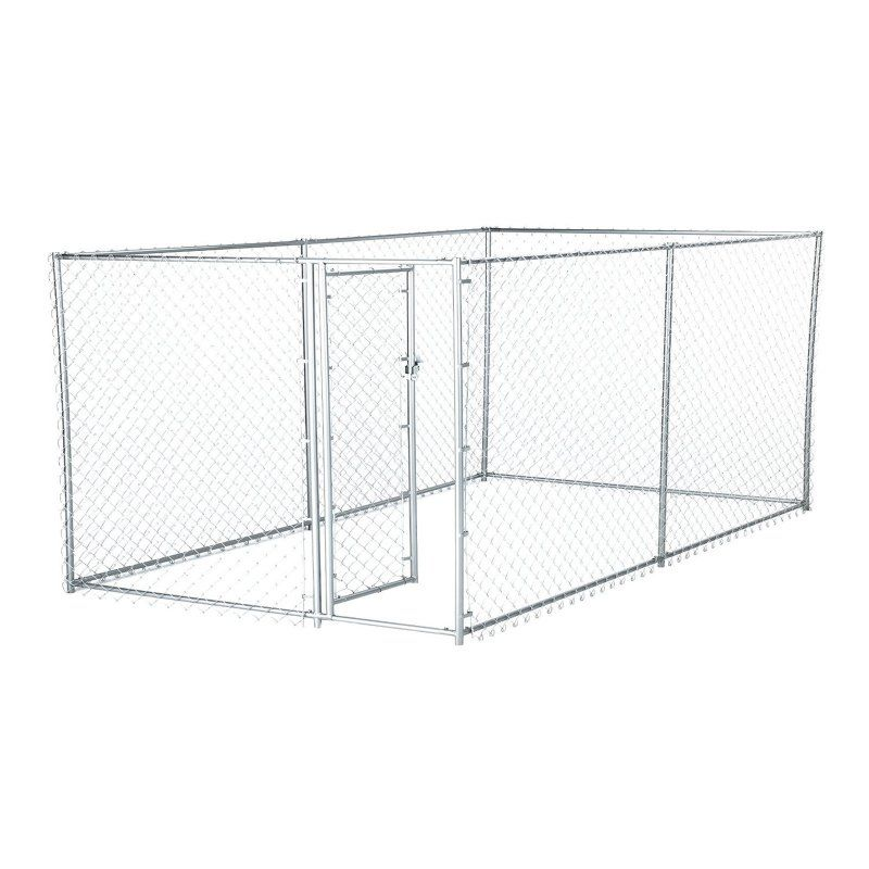 Lucky Dog 2 In 1 Size Galvanized Steel Chain Link Kennel Cl 41028ez Chain Link Dog Kennel Dog Playpen Lucky Dog