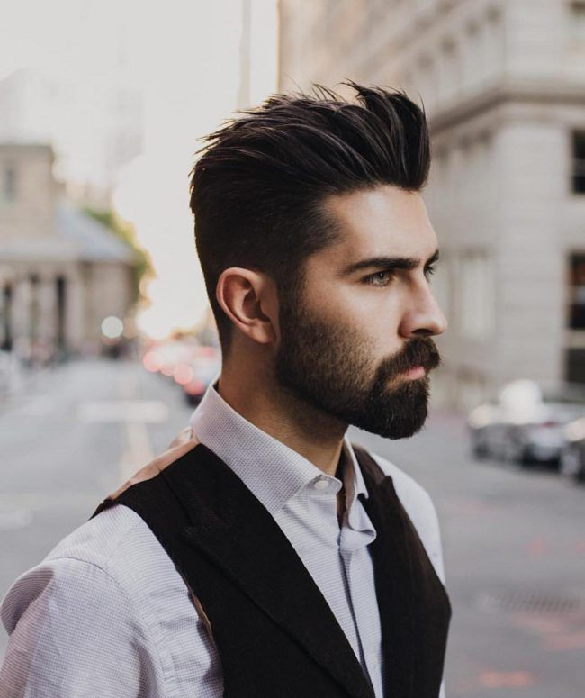 22 Cute Brush Back Beard Styles Short Mens Hairstyles Short Beard Styles