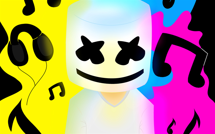 Download wallpapers DJ Marshmello, art, musician, DJ