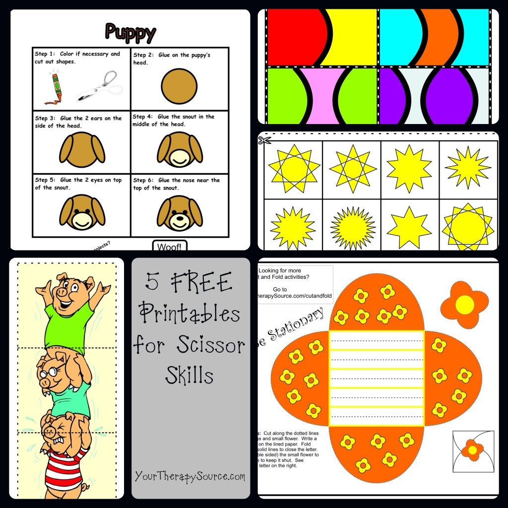 5 Free Printables To Practice Scissor Skills And More